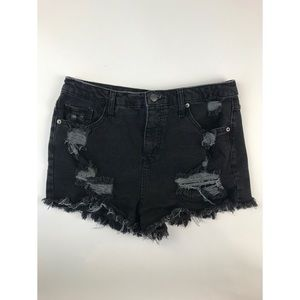 Wild Fable High Rise Ripped Denim Shorts